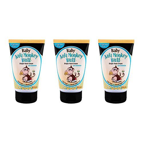 Anti Monkey Butt Baby Diaper Rash Cream | Treats Skin Irritation | Zinc Oxide Cream with Calamine | 3 Ounces | Pack of 3