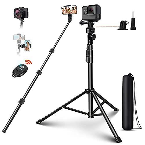 Bluetooth Selfie Stick 4 in 1 Selfie Stick Wireless Selfie-Stange Stab mit 132cm Stativ Fernbedienung 1/4 Schraube 360°Rotation Selfie-Stange für Action-Kamera Gopro iPhone Samsung Huawei usw