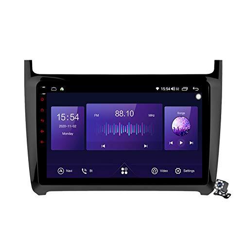 Gokiu Android 10 Autoradio 2 DIN Car Stereo Coche GPS Navegacion para Volkswagen Polo 5 2008-2020 Soporte Carplay Android Auto/Multimedia FM RDS DSP/Control Volante/Hands-Free Calls,7862: 4+64