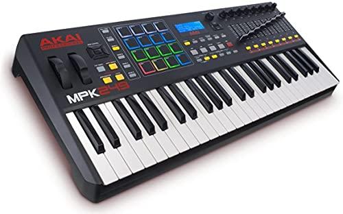 Akai Professional MPK249 – USB MIDI keyboard controller met 49 semi-gewogen toetsen inclusief toewijsbare MPC…
