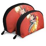 Anime My Hero Academy Borsa per il trucco a forma di conchiglia Organizzatore portatile multifunzione per borsette 2 pezzi