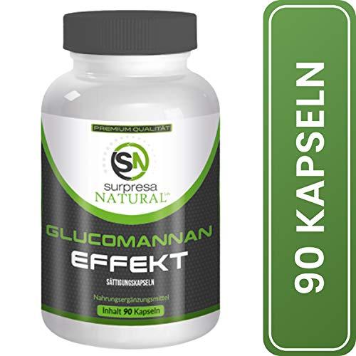 Surpresa Natural® - Glucomannan - 90 hochdosierte Kapseln | 100% natürlicher Ballaststoff aus der Konjak-Wurzel | effektiv Abnehmen durch gesunden Gewichtsverlust | Fatburner | Sättigungskapseln