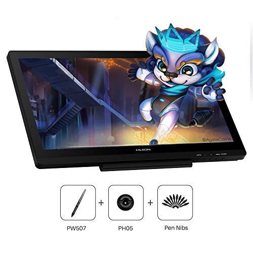 Huion Kamvas 20 2019 Tableta Gráfica con Pantalla, Versión Mejorada de Kamvas GT-191 V2, 120% sRGB, con Función de Inclinación