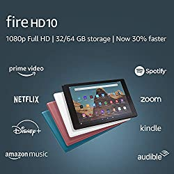 "Image of Fire HD 10 Tablet (10.1"" 1080p full HD display, 32 GB, latest model - 9th generation) – Twilight Blue: Bestviewsreviews"