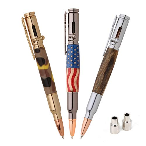 PSI Woodworking PKCPBAPAK 30 Caliber Bolt Action Bullet Cartridge Ballpoint Pen Kit Starter Package Woodturning Project