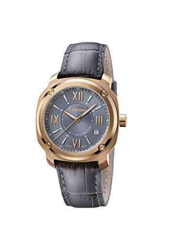 WENGER Unisex-Armbanduhr Analog Quarz Leder EDGE ROMANS NO: 01.1121.111