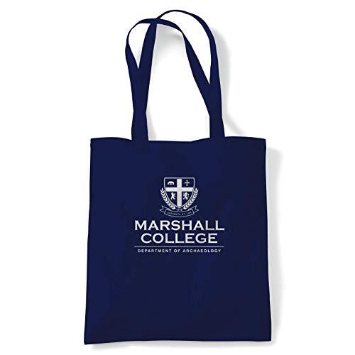 Marshall Uni Indiana Jones Pelcula Inspirado Bolsa Disfraz Pelcula Accesorio Disfraz Personaje Cos Jugar Reutilizable Compras Lona de Algodn Largo Mango Natural Shopper Ecolgico Moda