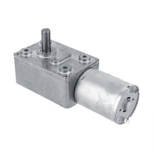 Motor eléctrico de reducción reversible de 12 V, 3 rpm, turbina de par elevado, motor de engranajes con tornillo sin fino.