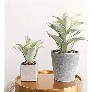 Skyseen 2 Sizes Artificial Tillandsia Air Plant Bromeliads Fake Succulent Plants for Home Decor,Green