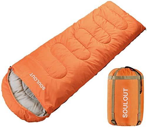SOULOUT Schlafsack 3-4 Jahreszeiten - Wasserdichter Leichter Deckenschlafsack für Camping, Reisen und Outdoor-Aktivitäten -Ideal für Erwachsene und Kinder - 220 x 83 cm