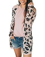Cloudro ?? Women Casual Leopard Cardigan Coat,Winter Fashion Women Long Sleeve Leopard Print Loose Outwear Tops Coat Pink