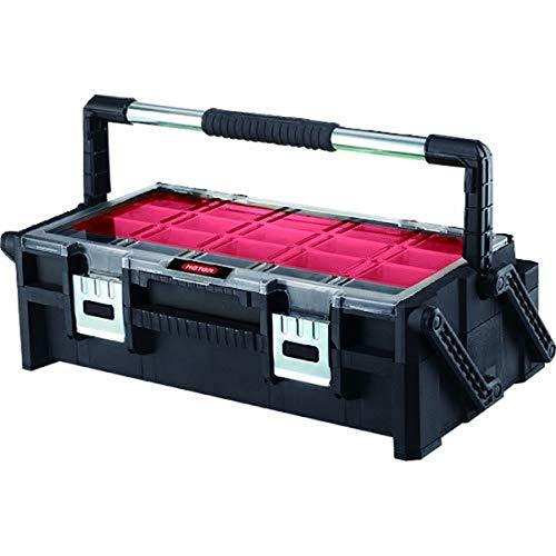 Keter Canti Organizer 22' - Caja de herramientas, color negro y rojo