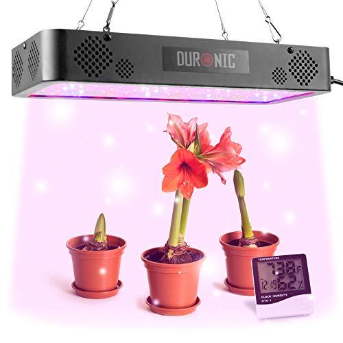 Duronic GLH60 Lámpara LED cultivo interior de plantas 600W – Lámpara de suspensión - Luz de espectro completo – 60 LED blanco, rojo y azul – Modo veg y bloom