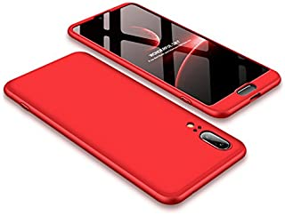 Ypanda Case for Huawei nova 3i / P20 / P20 Pro / P30 Lite / P30 Pro/Mate 10 pro / Y9 (2018) Case 3 in 1 Design - 360 Degree Full Body Protection - Ultra Slim Hard Case (P20,Red)