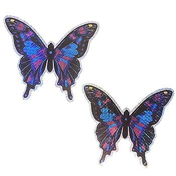 Heavy Duty Butterfly Holographic Screen Door Refrigerator Magnet 6.5   Midnight Purple