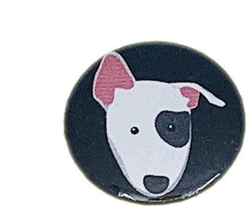 MALALPHA Alfileres y broches - Perro Bull Terrier - Pitbull