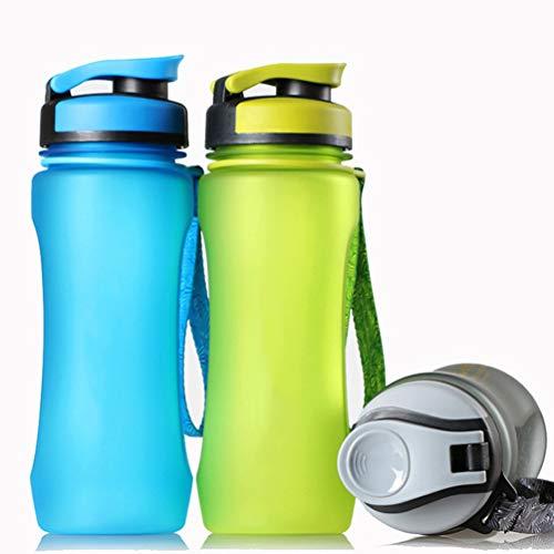 Water Fles Vaatwasser Safe Travel Mok Geen Rietje BPA Gratis Lek Bewijs Herbruikbare Grote Water Kruiken met Tuit Dranken Lichtgewicht Sportfles voor Outdoor Wandelen Camping Fitness 600ml (2st)