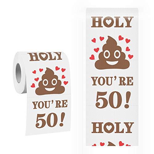 50thBirthday Toilet Paper Roll Prank Funny Gag Gift Birthday Gifts NoveltyGift PresentBirthdayParty Favor Decorations Supplies