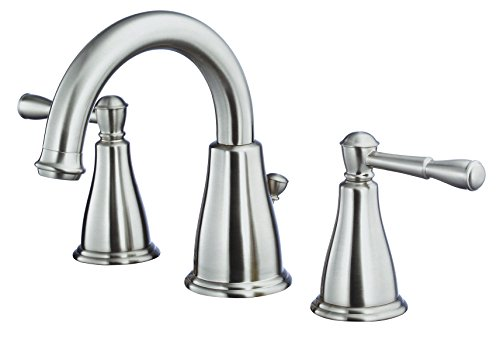 Danze D304115BN Eastham Widespread Bathroom Faucet with Metal Pop-Up Drain, Brushed Nickel