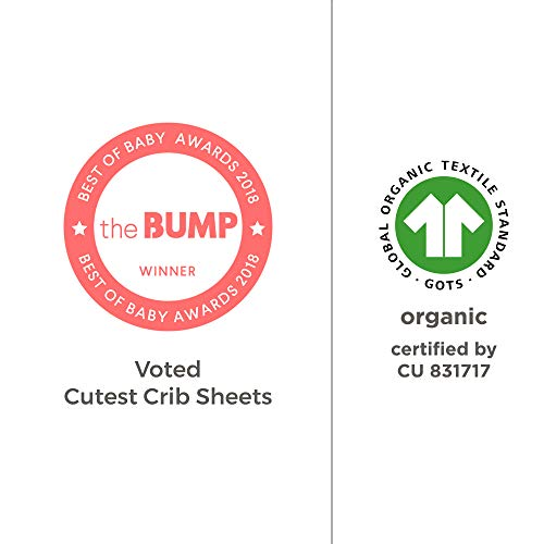 Burt's Bees Baby - Fitted Crib Sheet, Solid Color, 100% Organic Cotton Crib Sheet for Standard Crib and Toddler Mattresses (Heather Grey)