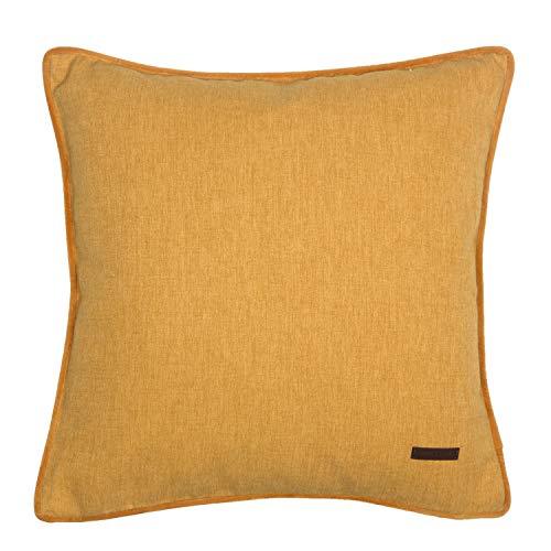 ESPRIT Deko Kissen Harp • 2er Set Kissenbezug 38x38 gelb • Deko Wohnzimmer • ohne Füllung • 100% Polyester