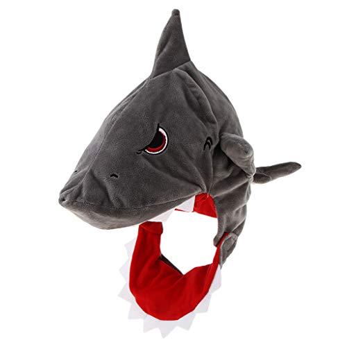 Fenteer Lustige Fischmütze Hai Tiermütze Fischhut Tierhut Faschingshut Geburtstags-Geschenk für Herren Damen Kinder