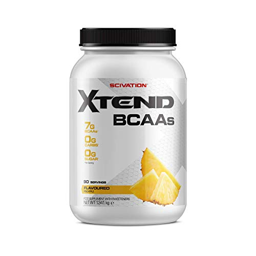 XTEND Original BCAA Powder Pineapple | Suikervrij BCAA-supplement met Elektrolyten voor Herstel en Hydratatie | 7 g BCAAs for Men & Women | 90 Doseringen