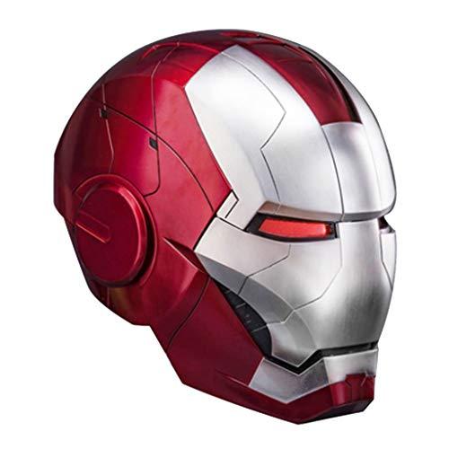 nihiug 1 / 1MK5 Live-Azione Iron Man Controllo vocale Maschera Casco/Apertura Manuale/Chiusura/Controllo Cosplay Modello indossabile remoto Include Piattaforma, Helmet-OneSize