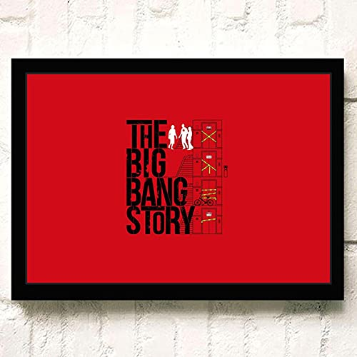 Leinwand Wandkunst 50x70cm Kein Rahmen The Big Bang Theory TV Film Poster Wandkunst Wohnkultur Malerei