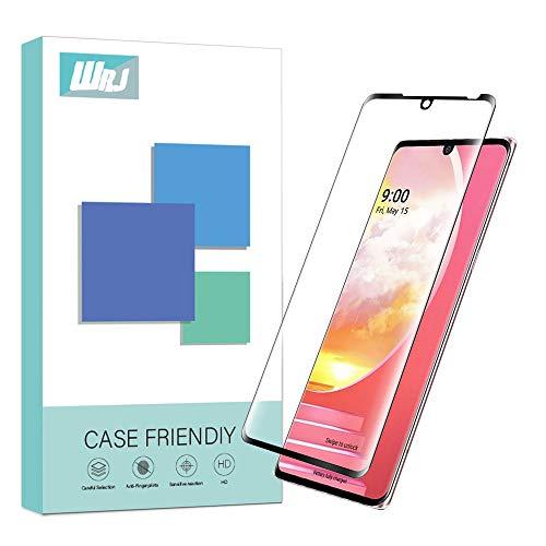 WRJ Bildschirmschutzfolie für LG Samt, HD Clear 3D Full Screen Schutz [Blasenfrei] [Anti-Fingerabdruck] 9H Panzerglasfolie (Schwarz)