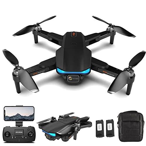 XIAOKEKE Drone RC con Fotocamera HD 6K - Quadrocopter Pieghevole Aereo Telecomandato con 2 Batterie Controllo App Foto Trasmissione Video in Diretta Controllo Telefono Cellulare 360 Gradi