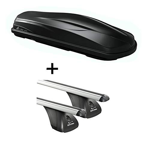 Dakkoffer/bagagebox CUBE470 + imperiaal origineel compatibel met Ford Fiesta VI 5-deurs 2008-2017