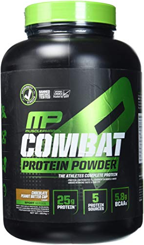 MusclePharm Combat Protein Powder (4lbs) Chocolate Peanut Butter Cup, 1.814 kg