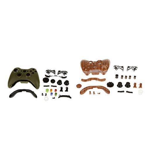 perfk 2 Sets Für Xbox 360 Wireless Controller Modding Set Gehäuse Case Hülle Shell Taste Kit