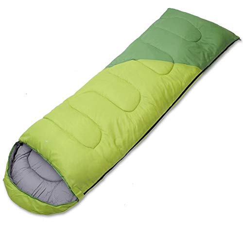 Saco de dormir 3-4 Temporada Extra cálido, liviano, Compacto y Resistente al Agua - Ideal para Acampar Mochileros Festivales de Senderismo - Incluye Bolsa de compresión - Verde