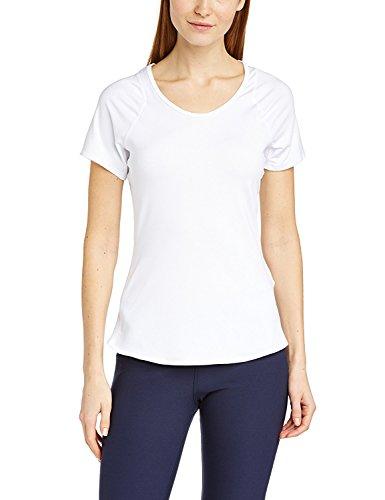 Nike Advantage T-Shirt Manches Courtes Femme L Blanc - Blanc/Noir