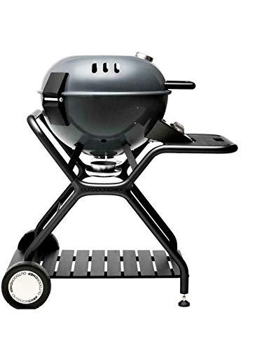 Barbecue sferico in acciaio, grill da Giardino Esterno OUTDOORCHEF modello ASCONA 570 G GREY, funziona a gas