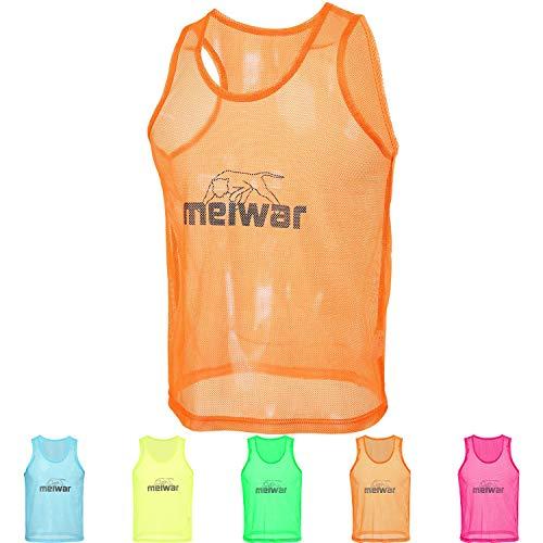 meiwar Leibchen - 10er Set Trainingsleibchen I Größe L I Orange