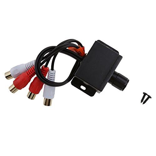 Gazechimp El Regulador de Audio para Automóvil RCA Ajusta El Control Remoto de Subwoofer a Nivel para Universal