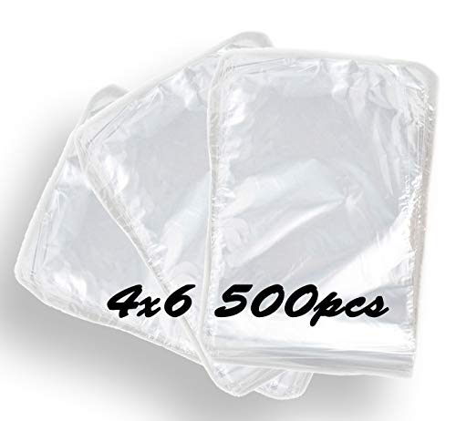 500pcs Set 4''x 6'' | Polyolefin Heat Shrink Wrap Bags | nontoxic/odorless | Perfect Bath Bomb Shrink wrap or soap Packaging| Wrapping, Bottle Sealer, Arts and Crafts, homemaking or Other Small Items