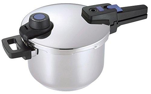 パール金属 圧力鍋 ステンレス  5.0L IH対応 3層底 切り替え式 プレミアムクイックエコHB-3295