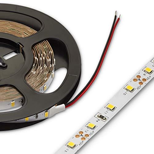 LED Stripe 2835 12 VDC 6 Watt/m 5 m Breite 8 mm Höhe 1,2 mm warmweiß 3200K kürzbar dimmbar Leuchtband Streifen von SO-TECH®