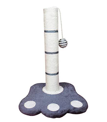 SAHZ Vertikaler Kratzbaum für Katzen, mit Pfotenunterlage, interaktiver Kletterstange, Sisalseil, mit Plüschfellball