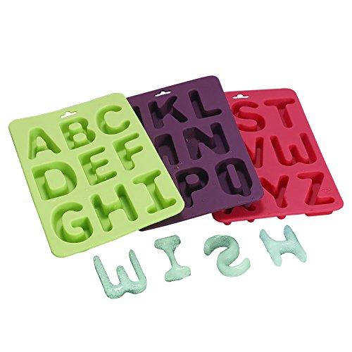 EQLEF® Silikon-Alphabet-Buchstabe-Eiswürfelform backen Tray Set