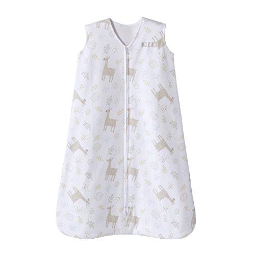 HALO Sleepsack 100% Cotton Wearable Blanket, TOG 0.5, Llama Sand, Large