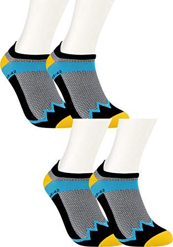 RS. Harmony   Damen & Herren Klettersocken Rotpunkt   4 Paar   schwarz/gelb/blau   39-42