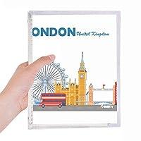 London Eye ダブルデッカーバスグラフィティノート ルーズリーフダイアリー 詰め替え可能なジャーナル文房具