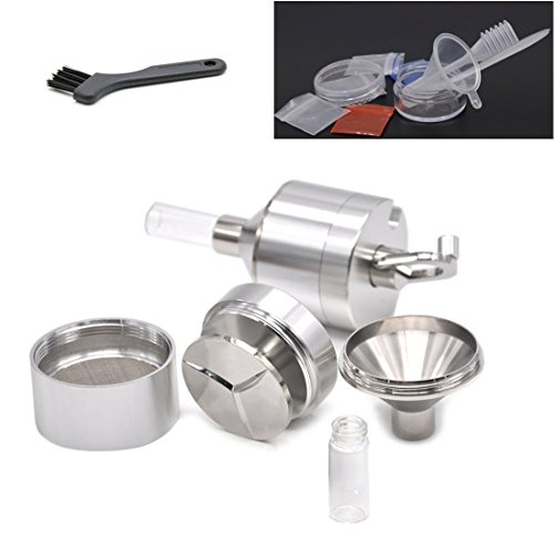 Aluminum Spice Mills Herb Powder Grinder Travel Set With Accessories Grind Tobacco To Powder Herb Crusher With Handle 56MM (2.2inch)Silver