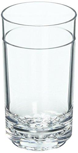 Drinique ELT-TA-CLR-4 Elite Tall Unbreakable Tritan Highball Glasses, 14 oz (Set of 4), Clear