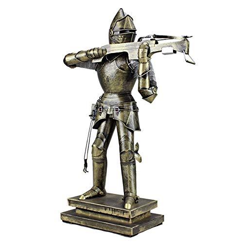 DAMAI STORE Retro Iron Bar Mittelalterliche Samurai-Rüstung Weich Zu Hause Dekoration Kreativen Geschenk Fotografie Requisiten Verzierungen 12.5x32x46cm
